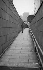 Leading Man (JamCanSing) Tags: blackandwhite man film canon kodak walk trix ishootfilm lone passage ultra premium bnw channel eos1 arista centralmall ishoo