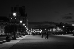 place du carrousel, paris, at night