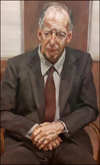 Man in a chair - Baron Jacob Rothschild by Lucien Freud (alanhitchcock49) Tags: portrait london simon face by gallery britain jacob exhibition national freud baron lucien rothschild schama of