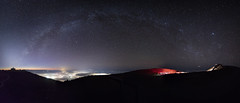 Milky way over Kahului (Peter Stahl Photography) Tags: stars pano maui observatory telescopes starrynight milkyway haleakela haleakalacrater