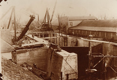 Canal, Portage Locks Under Construction, 1927, 1