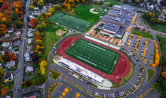 Woburn High School (TomBerrigan) Tags: dji phantom woburn mass drone new england high school football field