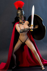 Molon Labe (edwicks_toybox) Tags: 16scale 300 ancientgreece brunette femaleactionfigure helmet phicen seamlessbody shield spartawarrior spartan sword