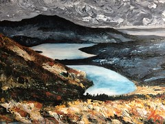 Photo of a painting I did of 'Arklet and Katrine' photo by Craig Skinner (with permission) (markshephard800) Tags: paint scenery landscape highlands katrine arklet trossachs lochkatrine scotland art