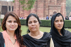 In India - DSC_0038 (John Hickey - fotosbyjohnh) Tags: 2016 holidays october2016 women people outdoor portrait ladies indian india delhi qutbcomplex nikon nikond5100 tourism traveldepartment visitors