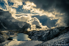 Alpine autumn (vlastimil_skadra) Tags: alpine switzerland swissalps alpen alps mountains lake water clouds sun hill snow autumn outdoor outdoorlife travel traveling europe landscape landscapes panorama scenery nikon d3300 wow