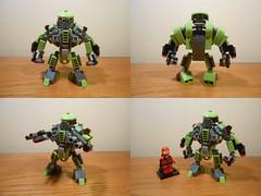 Verdurous Dynamo (TheHunBear) Tags: lego moc mech mecha robot space scifi