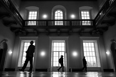 Great Hall Shadows (PM Kelly) Tags: great hall queens house london greenwich shadow silhouette windows light dark bnw black bw blackandwhite street photography