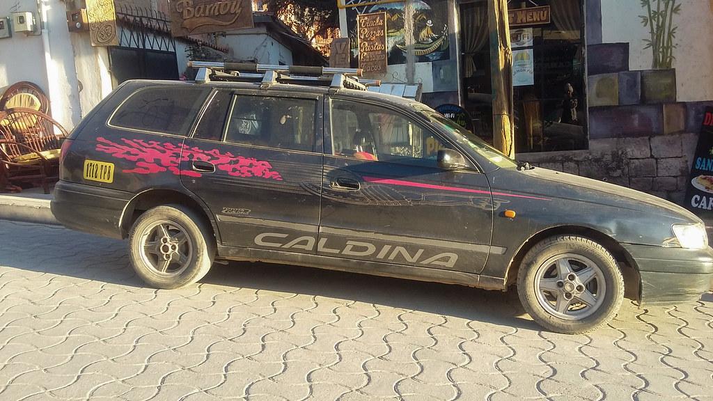 Toyota Caldina (ellyoracle77) Tags: Bolivia Copacabana Car Modified Pimped  Sports Budget Caldina Racing