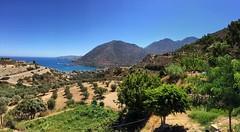 View from Sinolakis taberna off the main road.  . . . . #landscapes #landscape_lover #coastal #seaside #sea_sky_nature #iphonepics #rsa_naturepics #ig_greece #travelandlife #roadtrips #landscapelover #landscapeporn #natureporn #worldtravelbook #worldplace