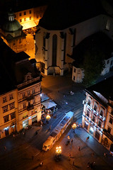 Tram Passing Through (tarmo888) Tags: selp18105g sonyalpha sony nex7 geotaggedphoto geosetter sooc photoimage foto vertical year2016 special beenwaiting nightshot ukraine  ukrayina   lviv lww lvov lemberg   leopolis lwow unesco medieval ploshcharynok marketsquare  ratusha rooftopping brilliant
