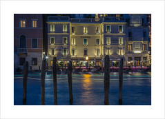 Night lights (andyrousephotography) Tags: venice grandcanal regina westineuropa hotel nice pricey view evening dusk bluehour longexposure le lighttrails boats andyrouse canon eos 5d mkiii