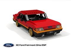 Ford XE Fairmont Ghia ESP 351 V8 (1982) (lego911) Tags: ford falcon xe fairmont 1982 1980s ghia esp 351 v8 auto car moc model miniland lego lego911 ldd render cad povray australia aussie xd lugnuts challenge 107 saturdaymorningshownshine saturday morning show n shine sedan saloon foitsop