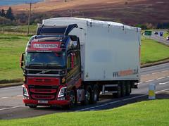J A Stevenson of Avonbridge Volvo FH SM13UCR on the A9 at Bruar, 18/10/16 (andyflyer) Tags: jastevenson avonbridge volvofh sm13ucr a9 hgv lorry truck transport haulage roadhaulage