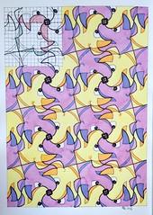 FullSizeRender 17 (regolo54) Tags: tessellation tiling wallpaper geometry symmetry pattern handmade watercolor aquarelle mathart regolo54 dog escher