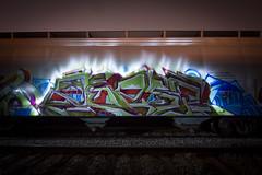 76759 (dogslobber) Tags: freight train graffiti trains freights graff spray night moves light painting