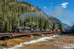 The last Animas crossing (kdmadore) Tags: drgw denverriograndewestern durangosilverton dsng durango silverton steamlocomotive steamengine railroad train narrowgauge