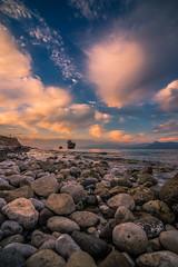 Sunset on the rocks (Vagelis Pikoulas) Tags: sun sunset rock rocks beach alepochori alepoxwri greece europe landscape canon 6d tokina 1628mm view sea seascape autumn november 2016 sky colours