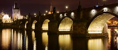 Prague Charles bridge at night (somabiswas) Tags: prague charles bridge night lights vltava river travel czechrepublic perfectioninphotography flickrdiamond saariysqualitypictures