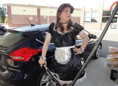 I'm a full service French maid (rgaines) Tags: costume cosplay crossplay drag frenchmaid halloween shopping