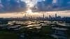 Hong Kong - Shenzhen border (dawvon) Tags: landscape liupok nature water city cityscape china pond futian asia hongkong sky shenzhen cloudy newterritories guangdongprovince godlight futiandistrict guangdong hk é¦æ¸¯
