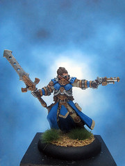 Painted Privateer Press Miniature Warmachine Commander Coleman Stryker. (Painted Miniatures) Tags: painted privateer press miniature warmachine commander coleman stryker