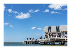Seaside Dining (red stilletto) Tags: barwonheads oceangrove cafe restaurant pier beach water spring bellarinepeninsula barwonriver