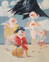 Wu Qiong - Pirates (Ode To Art) Tags: childlike funny humour art prints paper chinese wuqiong childhood innocent play