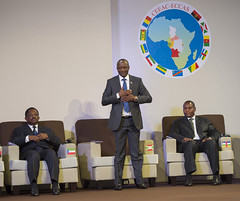 8th Extraordinary session of Economic Community of Central African States (ECCAS)   Libreville, 30 November 2016 (Paul Kagame) Tags: kagame ali bongo ondimba rwanda gabon