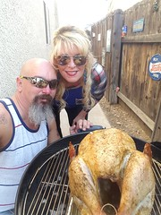 Turkey is Browning (cjacobs53) Tags: jacobs jacobsusa 116picturesin2016 scavenger hunt annual yearly clarence cj sher sherry browned off turkey food barbecue sunglasses