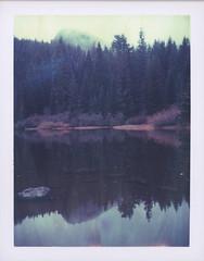 MirrorLake, Mt. Hood National Forest, Oregon. (feedmyhungryeye) Tags: type100 polaroid roidweekrejects roidweekouttake mthood forest lake