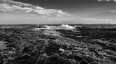 Breakers (Tore Thiis Fjeld) Tags: seascape sea horizon sky water breakers wave coastal coast coastline mono bw clouds rocks contrast nikon d800 samyang 14mm