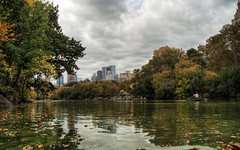 The lake in Central Park, New York (neilalderney123) Tags: 2016neilhoward newyork nyc centralpark lake boat rower olympus omd landscape cityscape