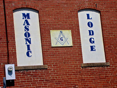 Masonic Lodge, Cambridge, OH (Robby Virus) Tags: cambridge ohio masonic lodge sign signage fraternal organization masons freemasons temple