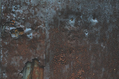 Texture of rusty metal (eriksjoholmofficial) Tags: antique architectural architecture background backgrounds break broken concrete construction crack cracked detail dirty dye effects fissure fracture grunge iron messy metal obsolete old paint pattern retro rough rust rusty surface texture wall weathered white