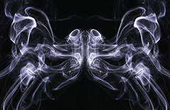 Mystical Moth (zuni48) Tags: smoke smokeart abstract blackbackground monochrome blackandwhite surreal