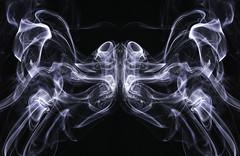 Mystical Moth (zuni48) Tags: smoke smokeart abstract blackbackground monochrome blackandwhite surreal