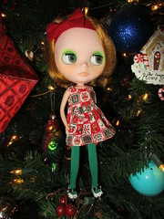 Claire helped decorate the tree