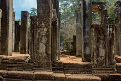 "The Bayon Temple, Angkor Thom (, Meaning ""Great City""), Siem Reap, Cambodia (takasphoto.com) Tags: 2870 angkor angkorthom asia basrelief bayon bayon cambodge cambodia camboja camboya hindu indochina jayavarmanvii khmer khmerarchitecture king kingjayavarmanvii kingdomofcambodia lens mahayanabuddhist nikkor nikkor2870mmf28d nikkor2870mmf28dedifafszoomlens nikon prasatbayon preahreacheanachakkampuchea professionallens siemreab siemreap southeastasia temple theravadabuddhist transportation travel travelphotography trip viaje                          7"
