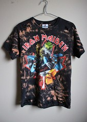 Splatter Bleached and Shredded Rare Eddie Iron Maiden TourT Shirt (shopthegasstation) Tags: tshirt tee shirt top jersey streetwear apparel clothes clothing grunge band black bleached dyed altered destroyed distressed bleach ripped shredded torn etsy gasstation ironmaiden eddie snowboard tour concert rock metal rare