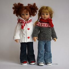 Festive Knits (Lel Bills) Tags: kish riley nordic sweater aran jacket hearts festive handknit handmade