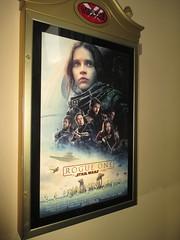 Star Wars - Rogue One Story Poster - 2016 NYC 8247 (Brechtbug) Tags: star wars rogue one story standee 2016 theatre lobby 34th street amc theater new york city space opera film movie science fiction scifi android kaytoo k2so imperial droid protocol robot metal man mekkano adventure galactic prototype design metropolis fritz lang death plans card board december 12032016 nyc billboard poster billboards posters ralph mcquarrie ron cobb syd mead