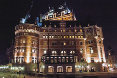 Le Chateau Frontenac Hotel (caribb) Tags: canada quebec quebeccity vieuxqubec oldquebec historic canadianhistory buildings heritage urban city 2016 downtown centreville street streets centrum chateaufrontenac hotel fairmont nght