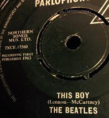 Macro Mondays - Beatles (NJKent) Tags: vinyl thisboy macromondays 45 single beatles uk