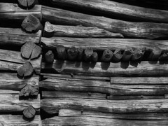 Log cabin (Tim Ravenscroft) Tags: monochrome blackandwhite logcabin timbers blueridgemountains virginia usa