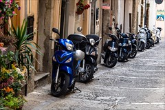 PA136800 Italy SicilyCefalu (Dave Curtis) Tags: 2013 cefalu em5 europe italy omd olympus sicily motor scooters
