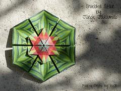 Shieled Star (1) by Jorge Jaramillo (esli24) Tags: stars origami sterne paperstars papierfalten carmensprung papiersterne jorgejaramillo juliaschönhuber esli24 ilsez kaleidoscopepaper kaleidoskoppapier shieldedstar