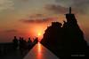 Biarritz le rocher de la vierge. (jmboyer) Tags: biarritz rocher vierge ©jmboyer géo travel picture imagesgoogle photoyahoo photogéo lonely gettyimages