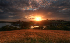 Churchtown Farm [Explored 20/08/2015] (Nickerzzzzz - Thanks for stopping by :)) Tags: ©nickudy sunset landscape sky photograph clouds sunlite field river forder tamar lynher golden water explored