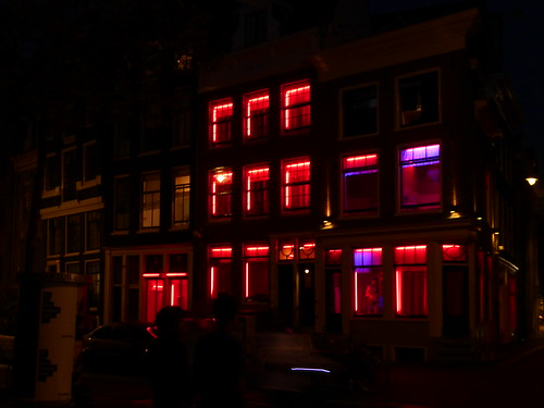 House in Amsterdam's red light district (ashabot) Tags: